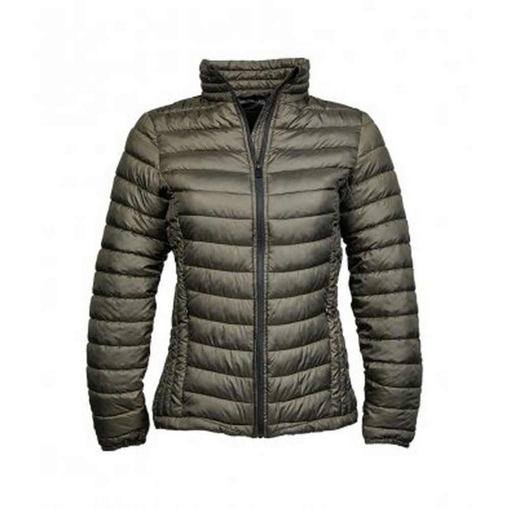 Tee Jays Womens/Ladies Zepelin Padded Jacket (S) (Dark Olive)