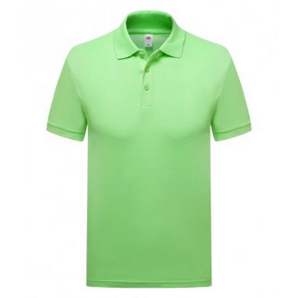 Fruit of the Loom Mens Premium Cotton Pique Polo Shirt (M) (Neo Mint)