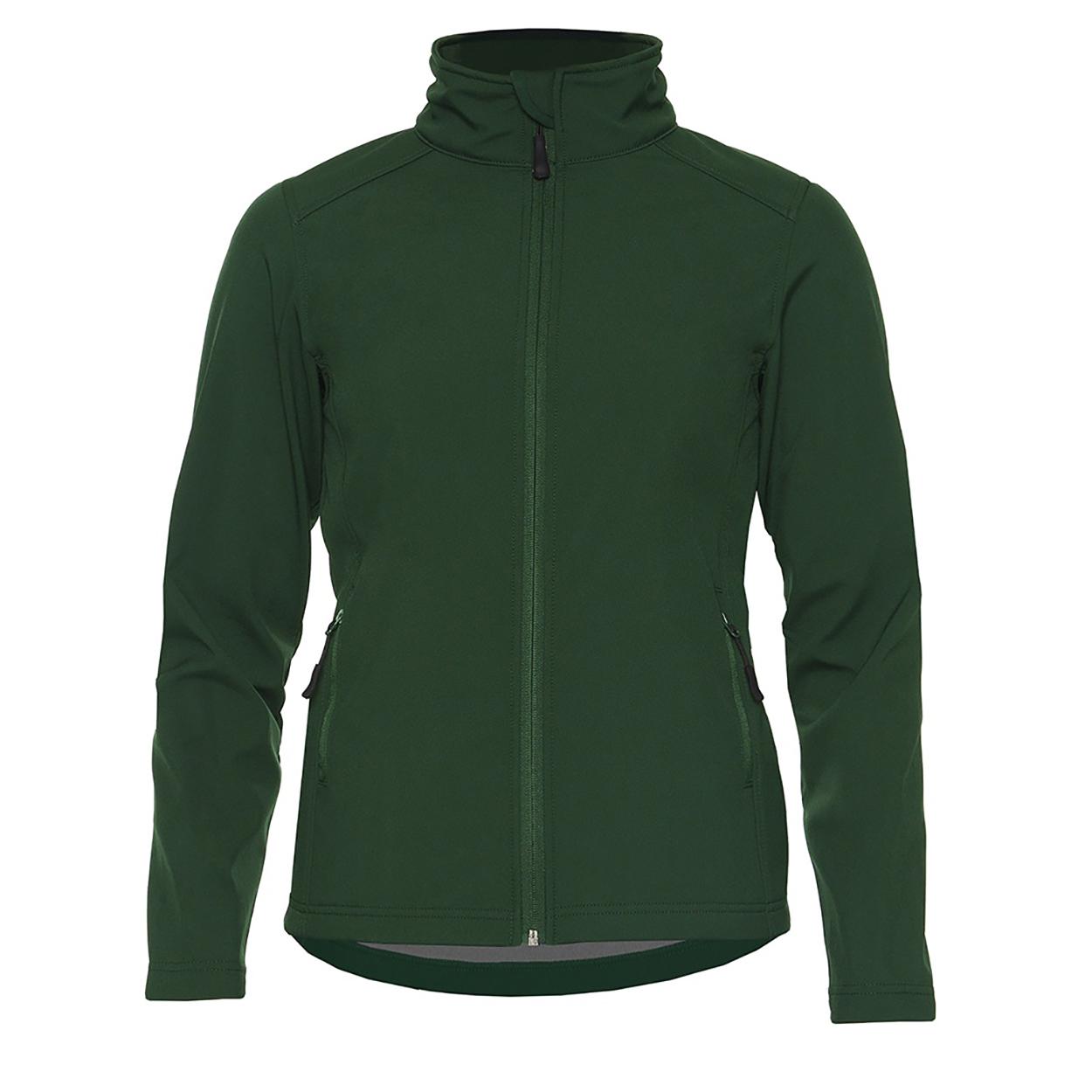 Gildan Womens/Ladies Hammer Soft Shell Jacket (XXL) (Forest Green)