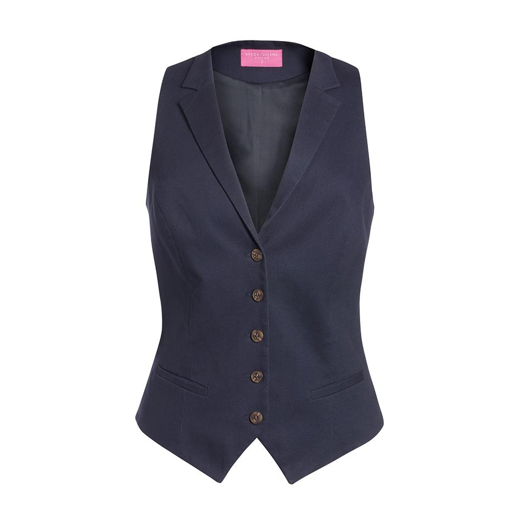 Brook Taverner Womens/Ladies Charlotte Chino Waistcoat (XL) (Navy)