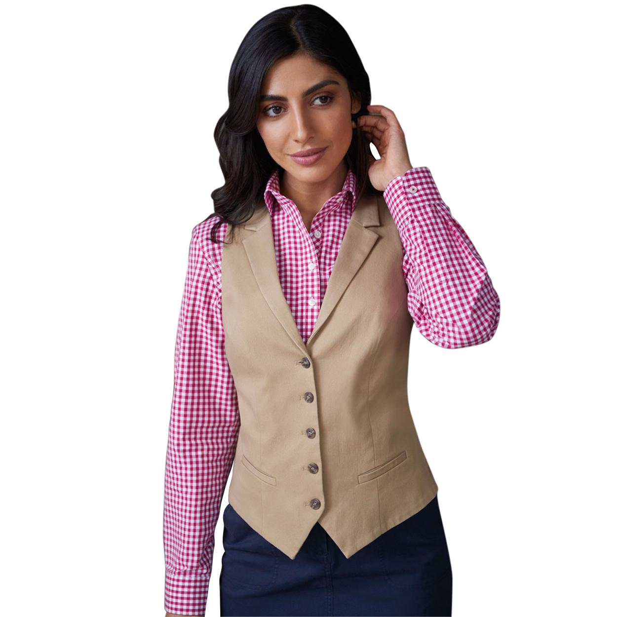Brook Taverner Womens/Ladies Charlotte Chino Waistcoat (XL) (Beige)