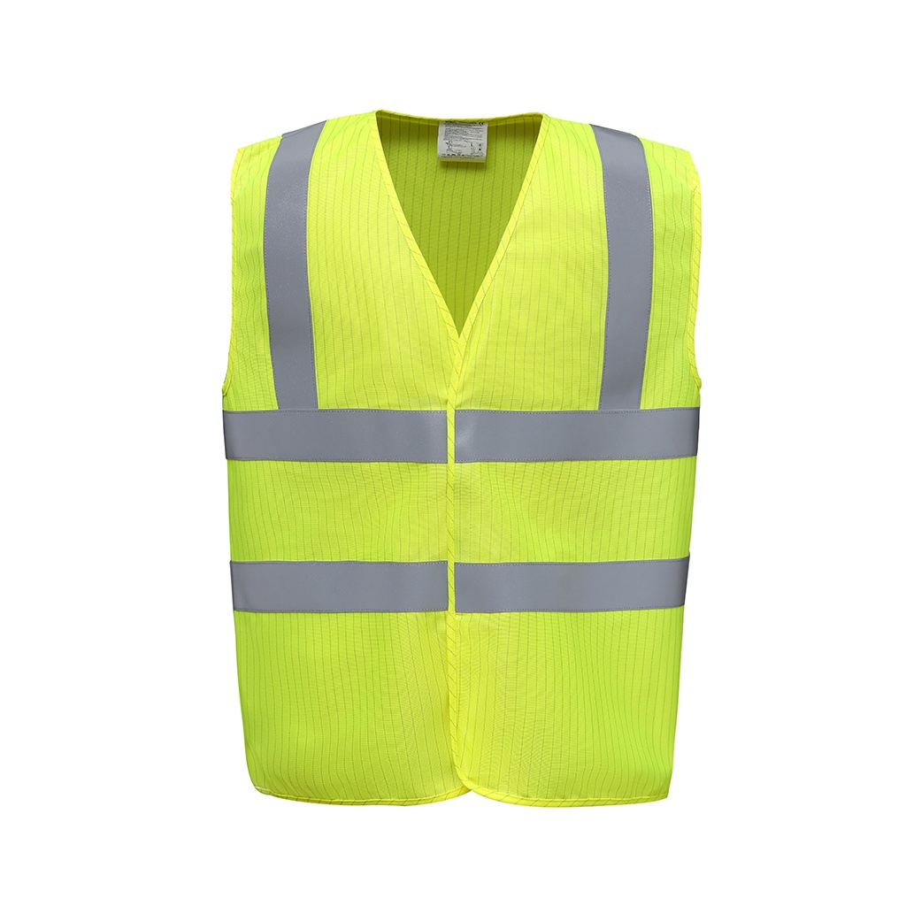 Yoko Hi-Vis Anti-Static Flame Retardant Waistcoat (XXL) (Yellow)