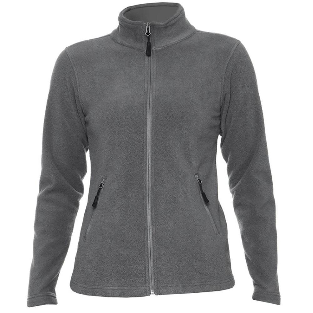 Gildan Hammer Womens/Ladies Micro Fleece Jacket (S) (Charcoal)