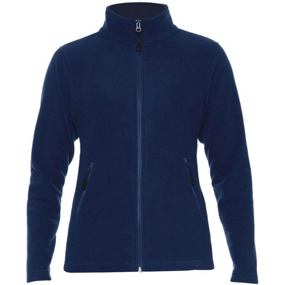 Gildan Hammer Womens/Ladies Micro Fleece Jacket (XXL) (Navy)