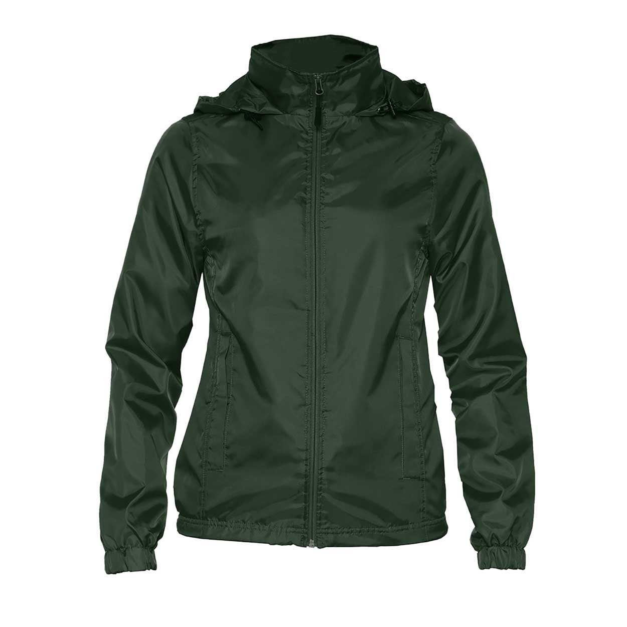 Gildan Womens/Ladies Hammer Windwear Jacket (XL) (Forest Green)