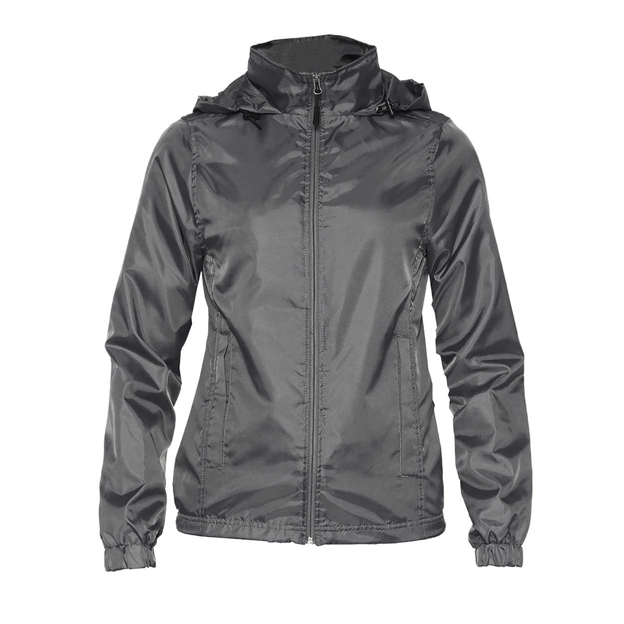 Gildan Womens/Ladies Hammer Windwear Jacket (L) (Charcoal)