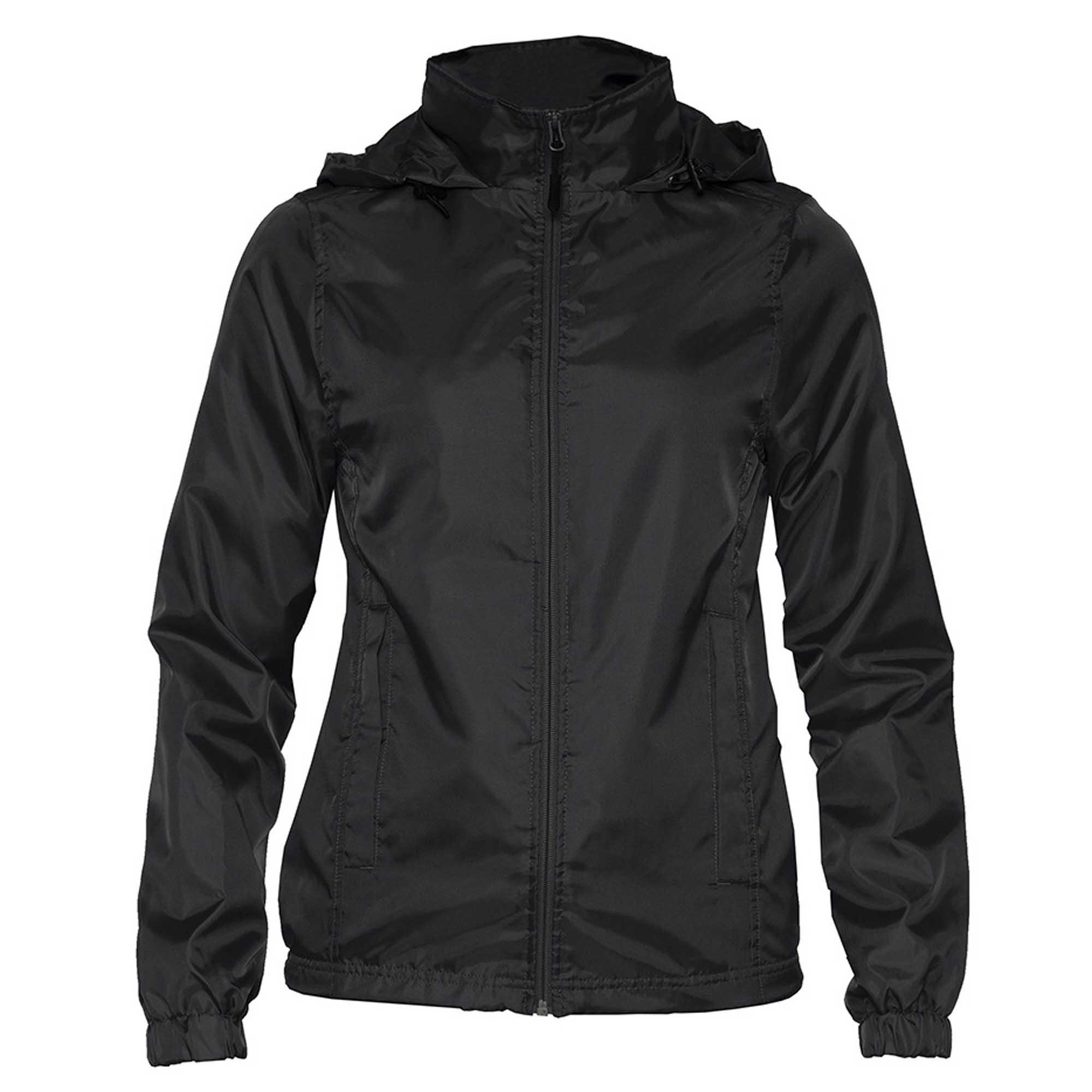 Gildan Womens/Ladies Hammer Windwear Jacket (XL) (Black)