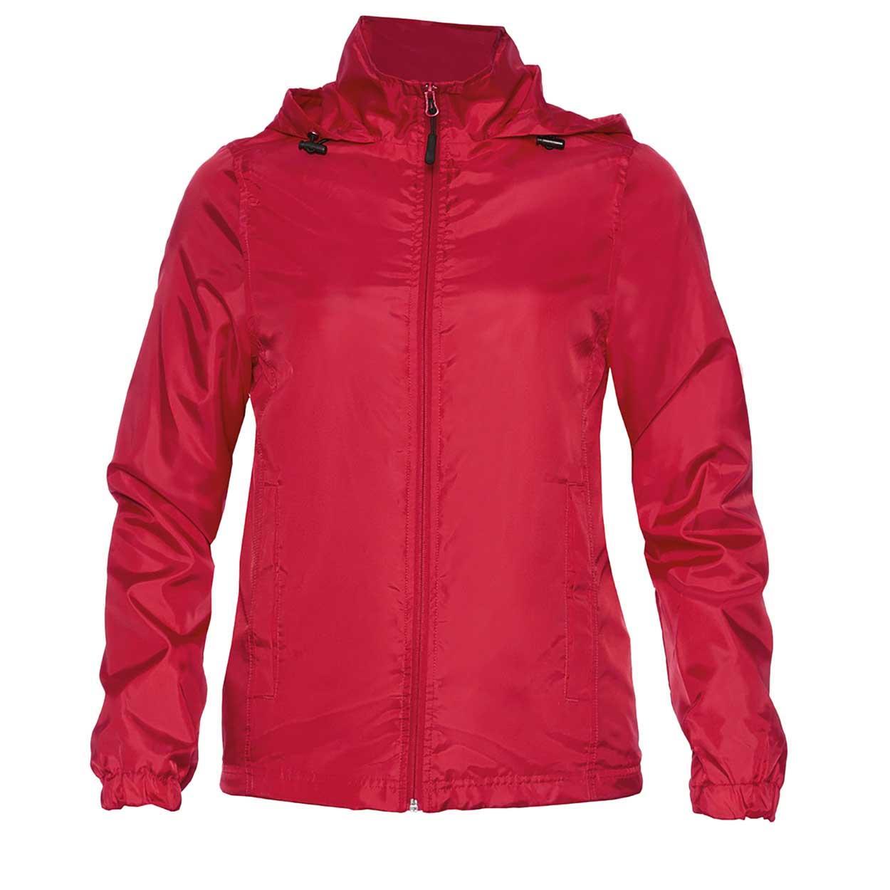 Gildan Womens/Ladies Hammer Windwear Jacket (M) (Red)