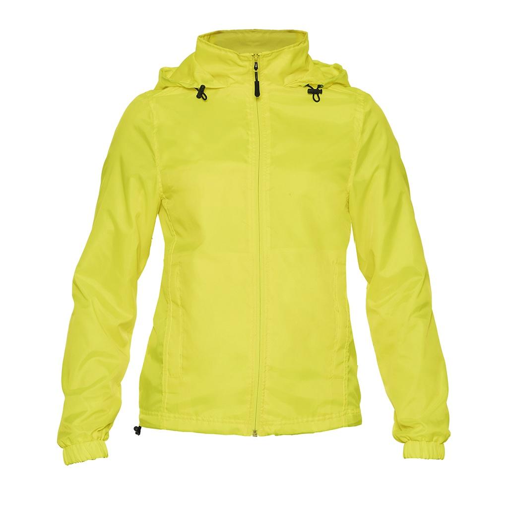 Gildan Womens/Ladies Hammer Windwear Jacket (L) (Safety Green)