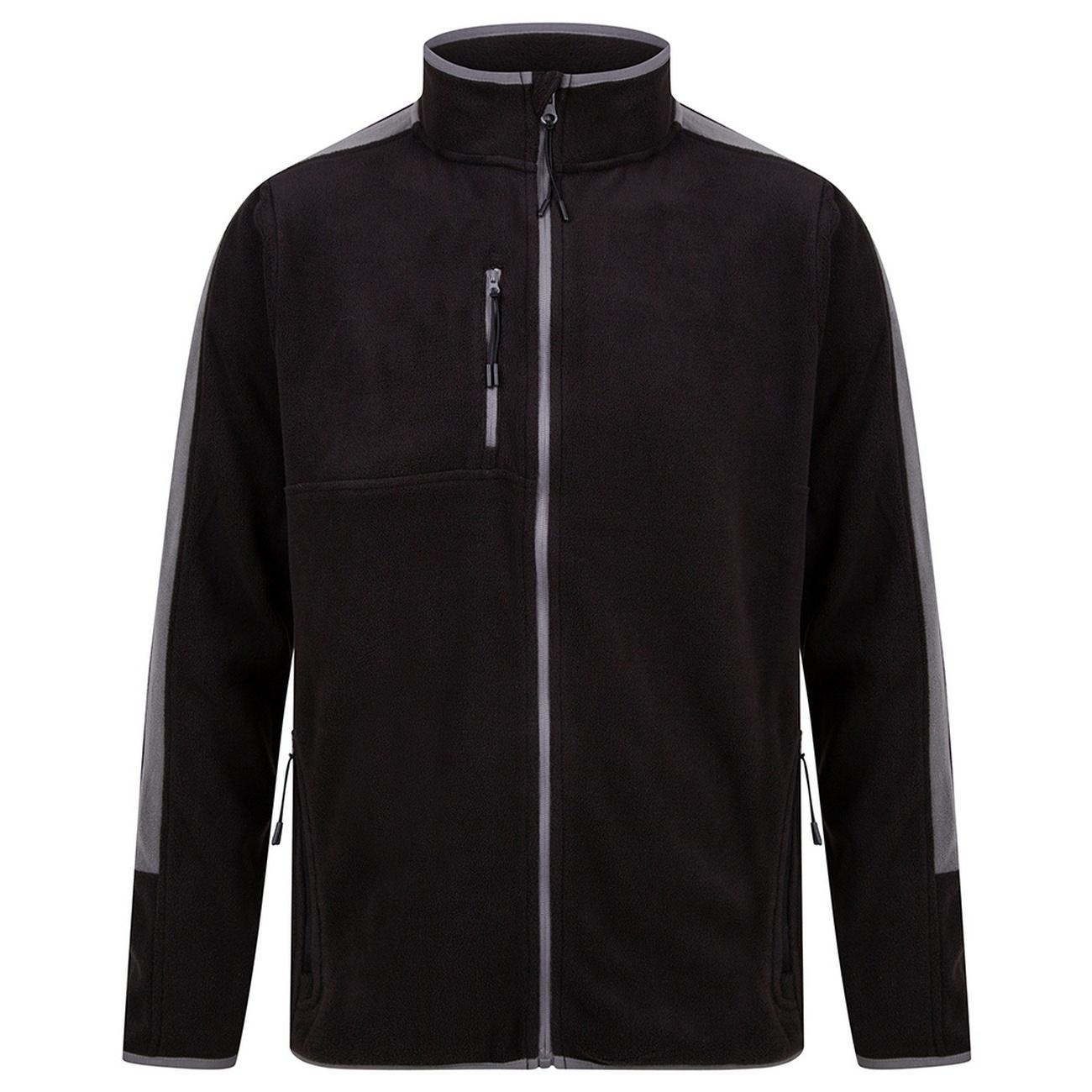 Finden And Hales Unisex Adults Micro Fleece Jacket (XS) (Black/Gunmetal)