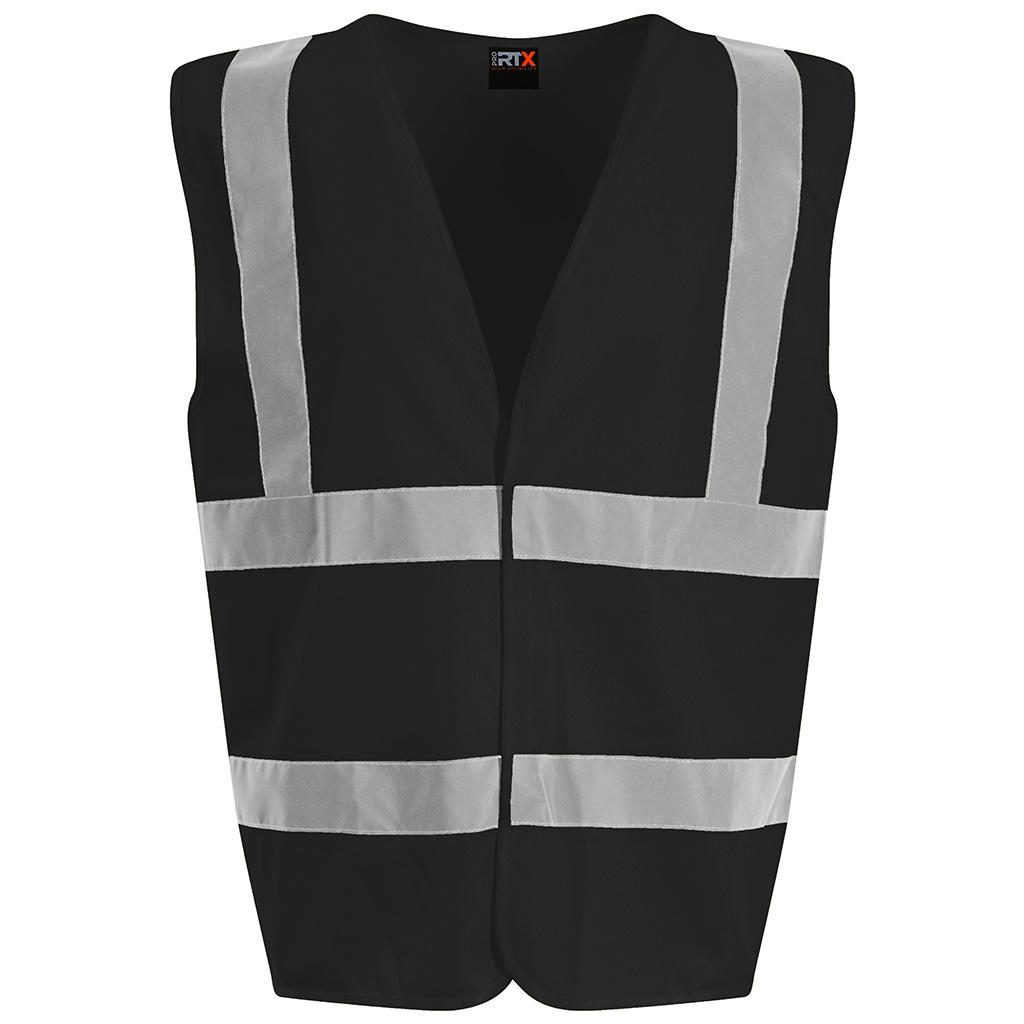 PRO RTX High Visibility Unisex Waistcoat (XXL) (Black)