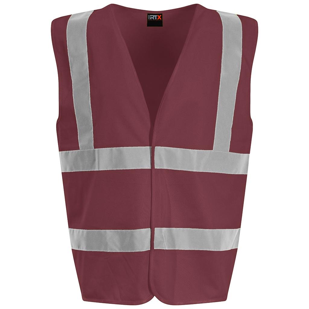 PRO RTX High Visibility Unisex Waistcoat (XXL) (Maroon)