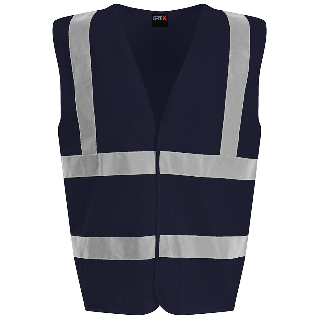 PRO RTX High Visibility Unisex Waistcoat (XL) (Navy)