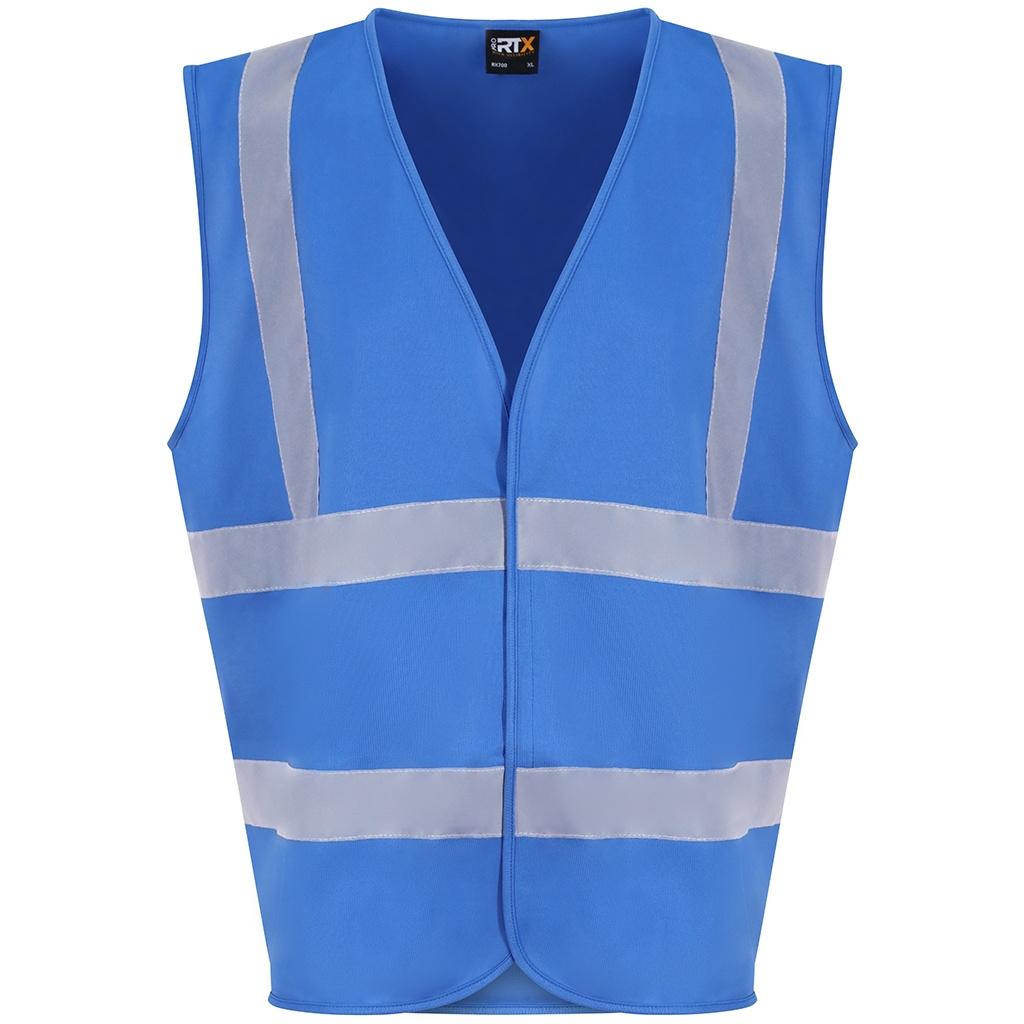 PRO RTX High Visibility Unisex Waistcoat (XXL) (Sapphire Blue)