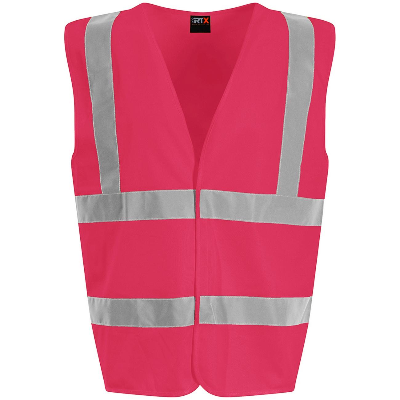 PRO RTX High Visibility Unisex Waistcoat (4XL) (Pink)