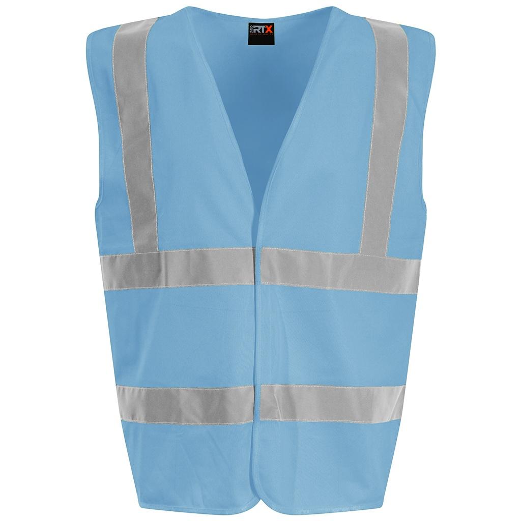PRO RTX High Visibility Unisex Waistcoat (XXL) (Sky Blue)