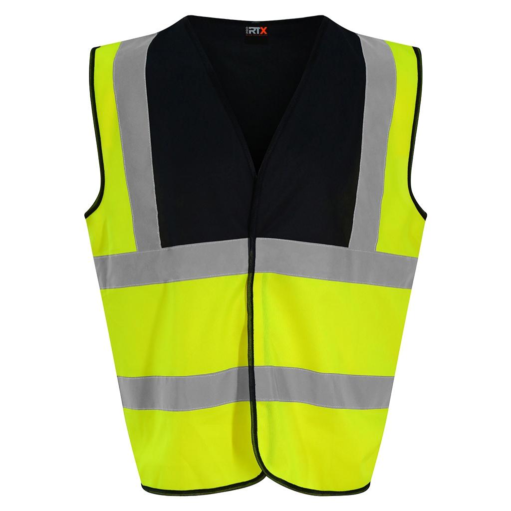 PRO RTX High Visibility Unisex Waistcoat (XXL) (Yellow/Black)