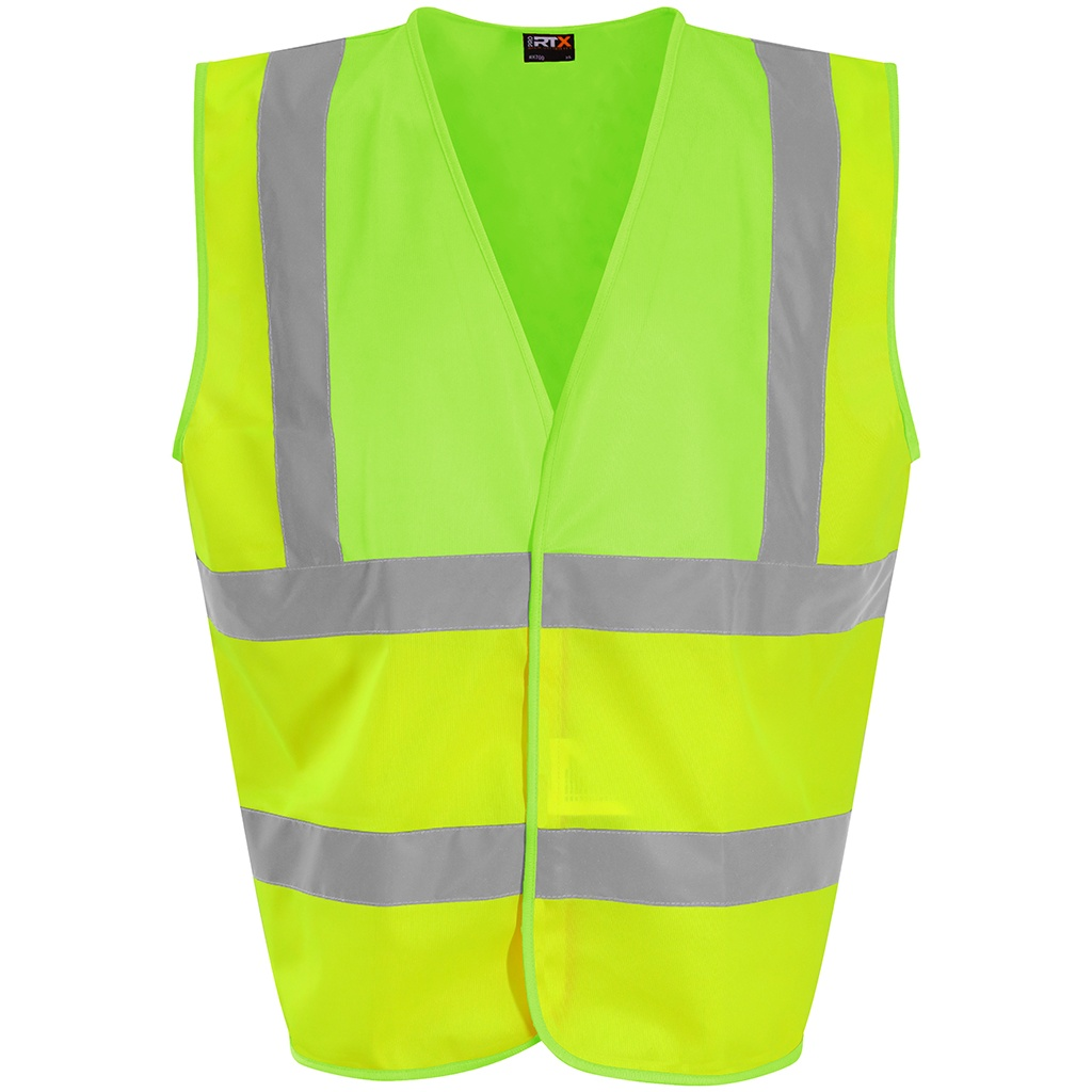 PRO RTX High Visibility Unisex Waistcoat (L) (Yellow/Lime Green)