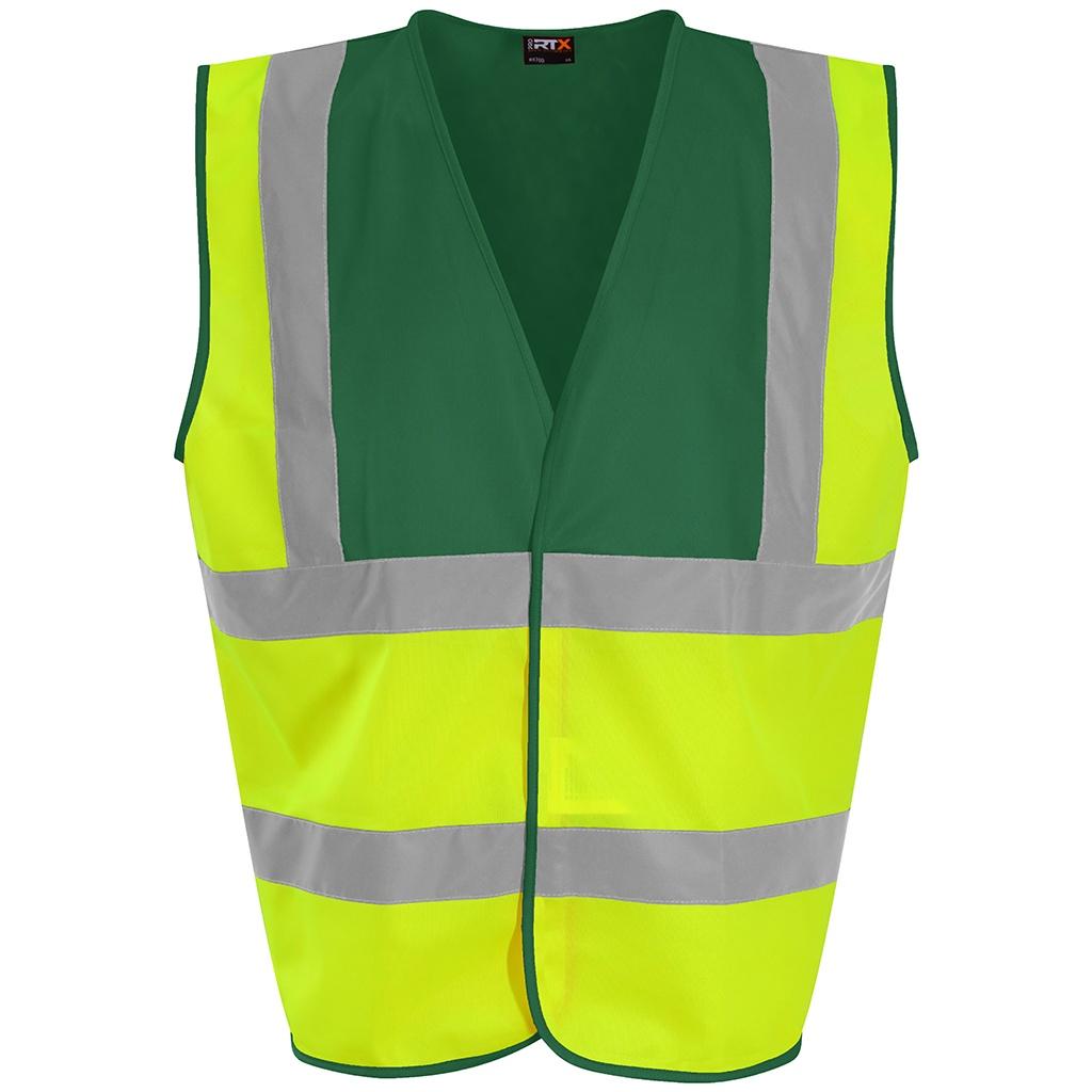 PRO RTX High Visibility Unisex Waistcoat (3XL) (Yellow/Paramedic Green)
