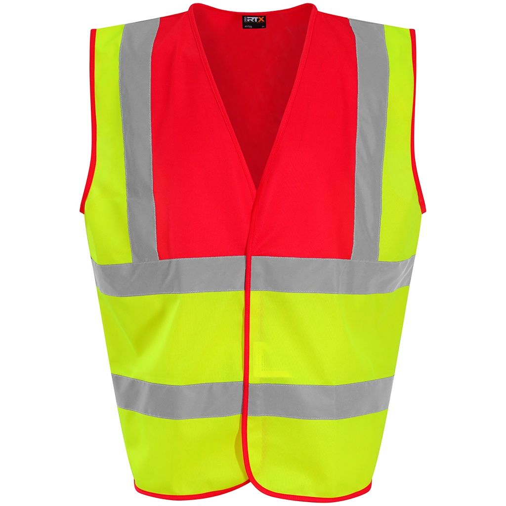 PRO RTX High Visibility Unisex Waistcoat (M) (Yellow/Red)