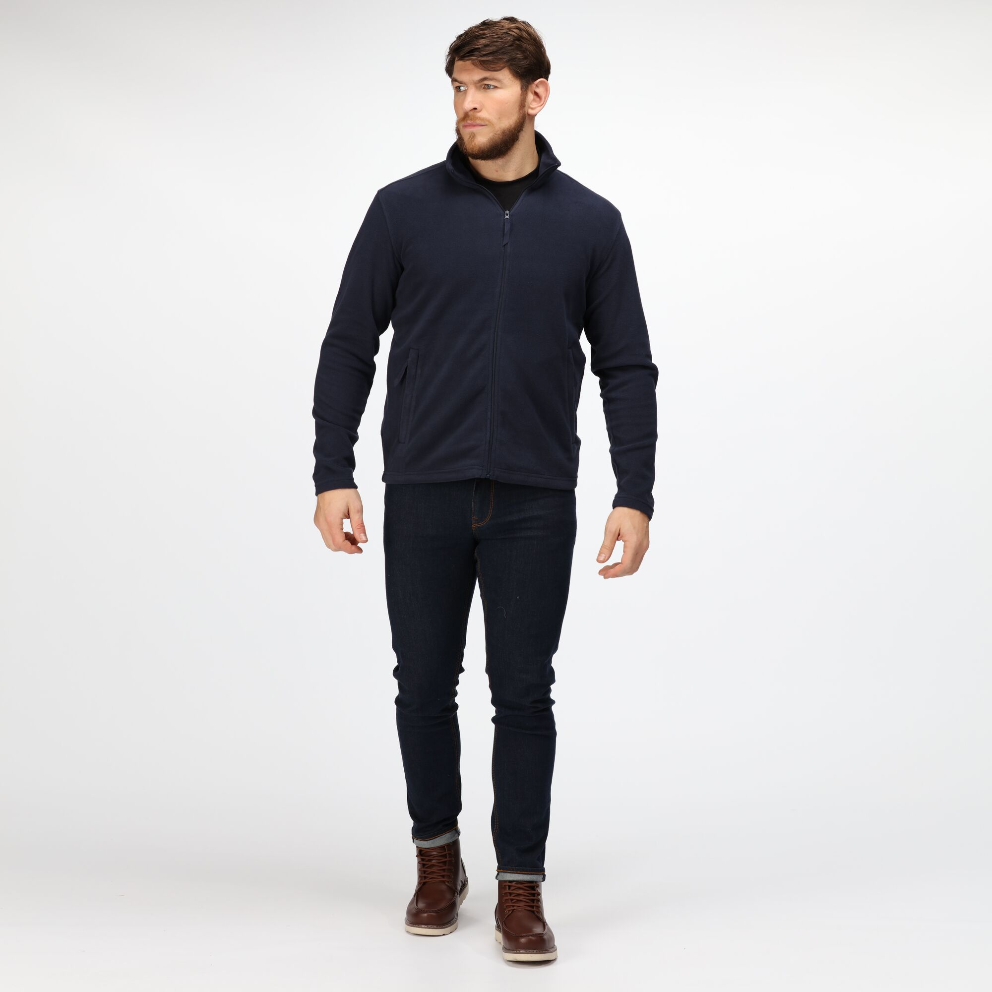 Regatta Professional Mens Classic Micro Fleece Jacket (S) (Dark Navy)