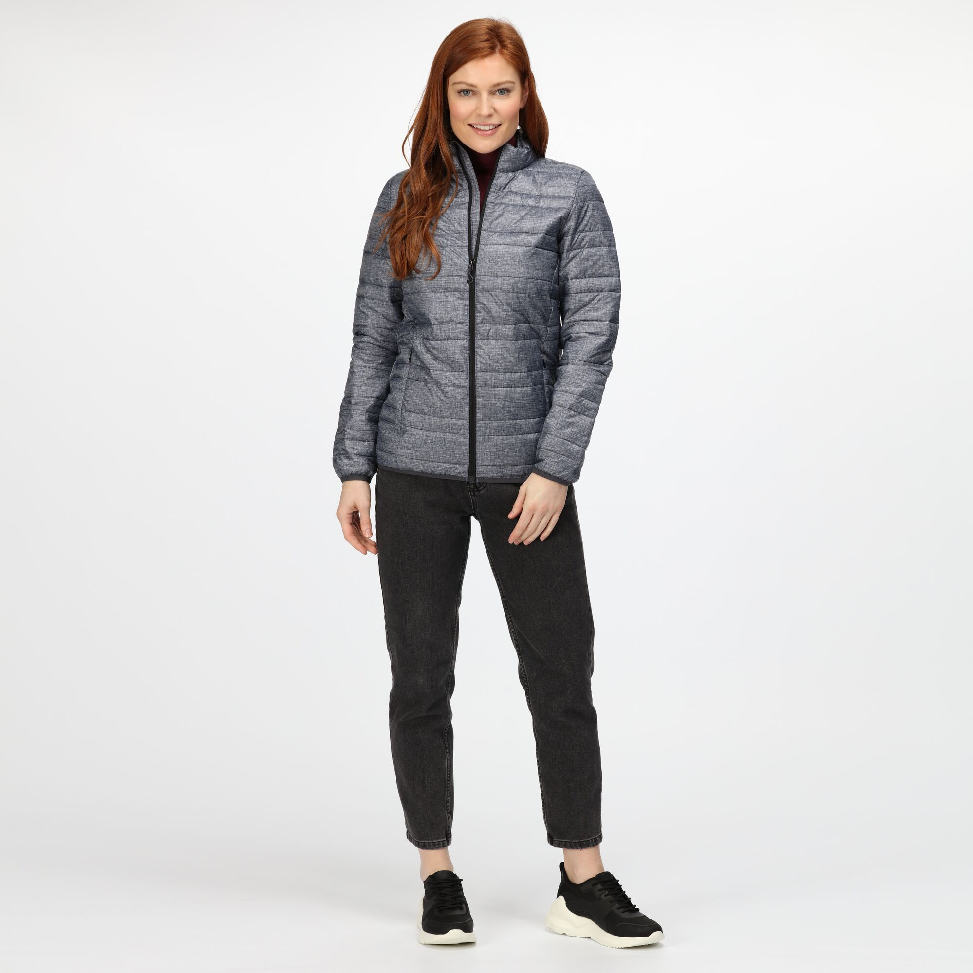 Regatta Professional Ladies/Womens Firedown Insulated Jacket (16) (Grey/Black Marl)