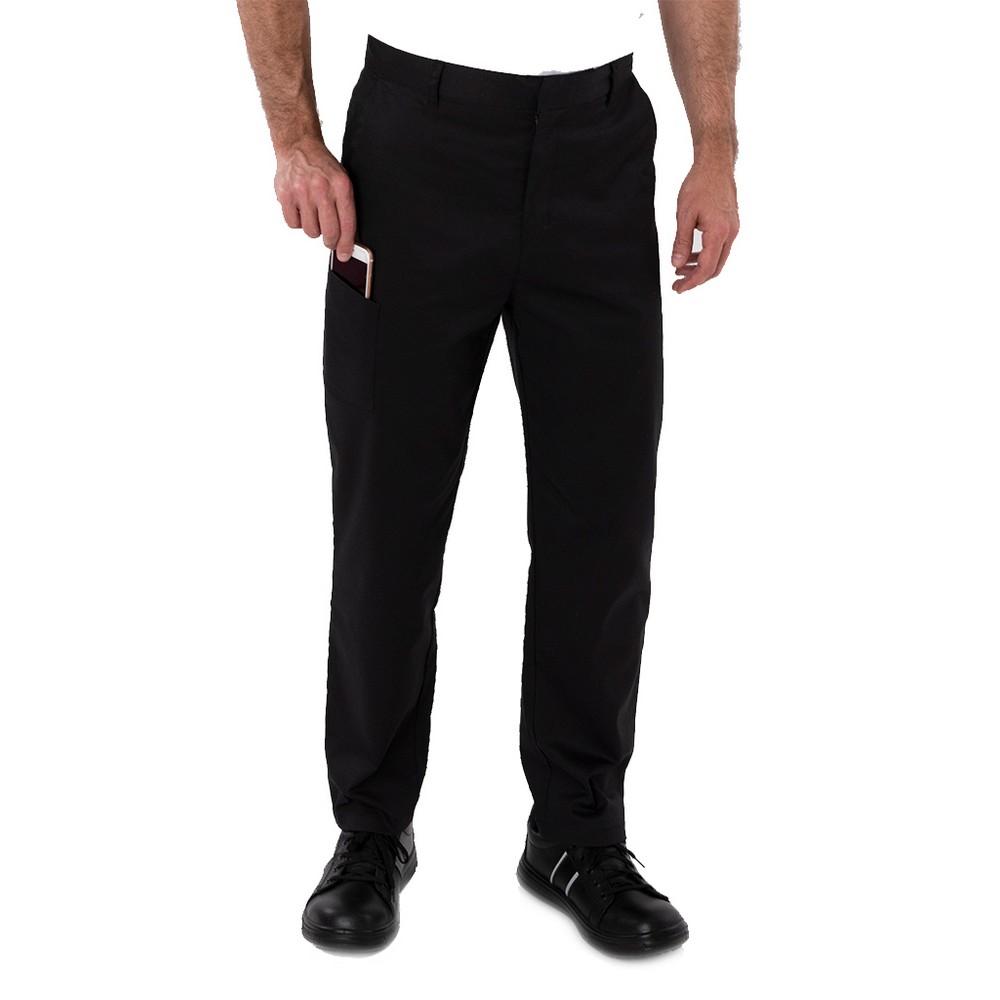 AFD Mens Slim Fit Stretch Trousers (XXL) (Black)