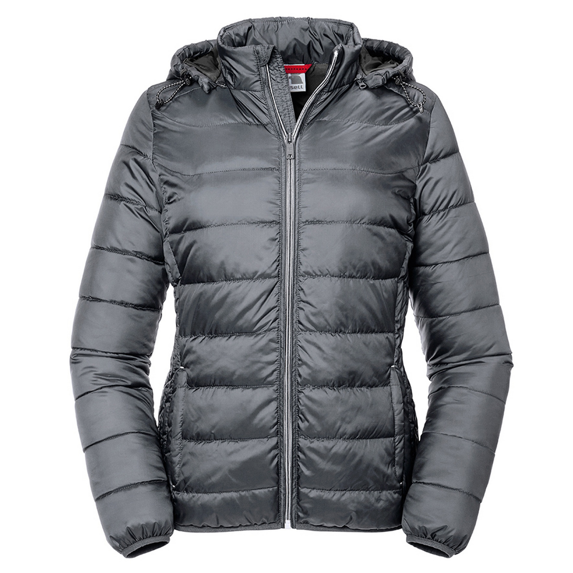 Russell Womens/Ladies Hooded Nano Padded Jacket (XS) (Iron)