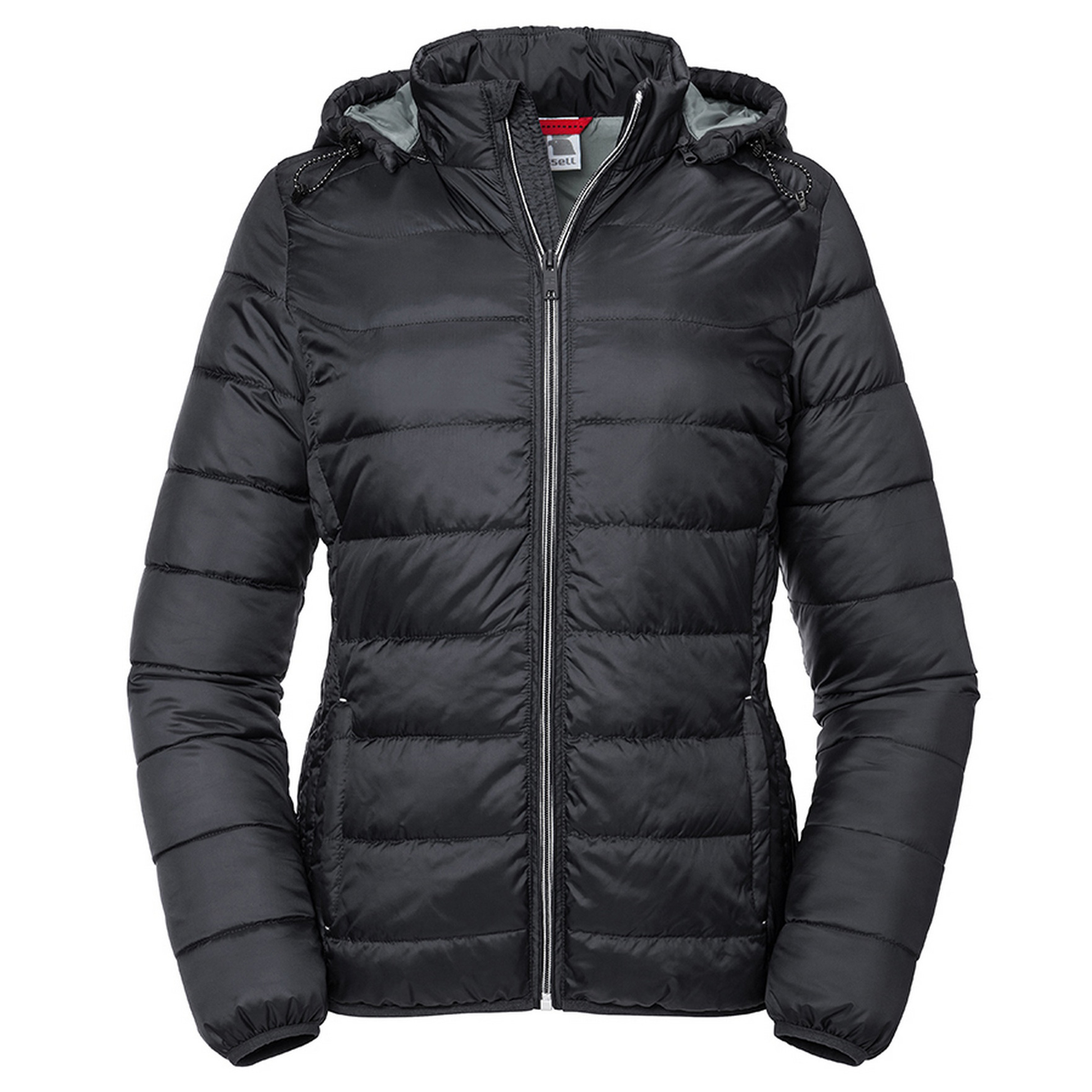 Russell Womens/Ladies Hooded Nano Padded Jacket (L) (Black)