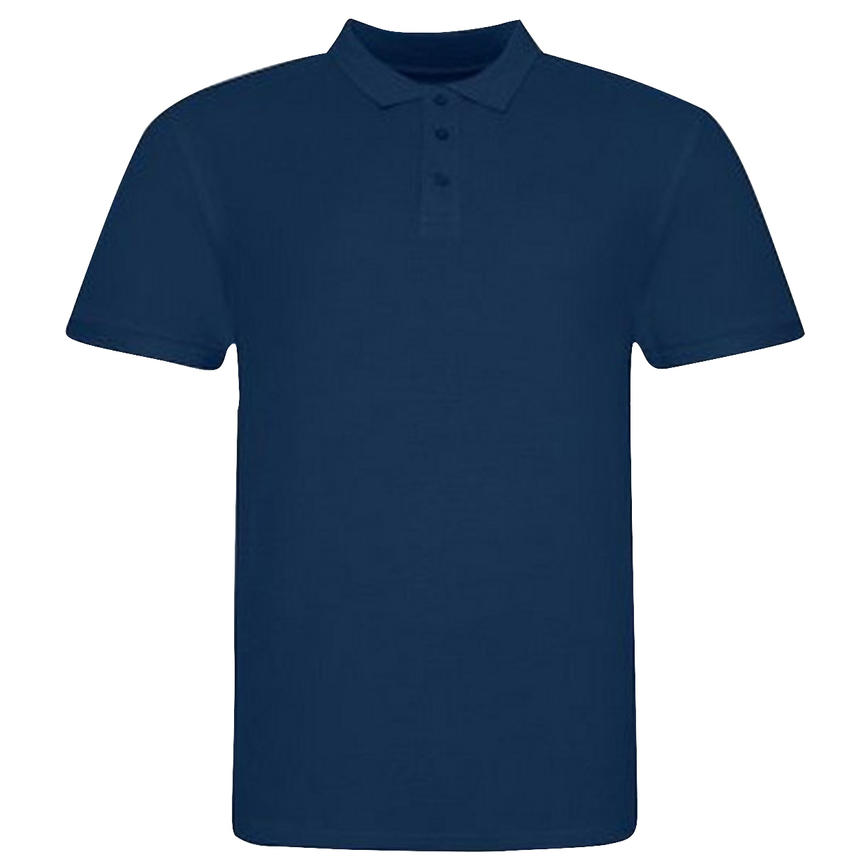 Awdis Mens Piqu Cotton Short-Sleeved Polo Shirt (M) (Ink)
