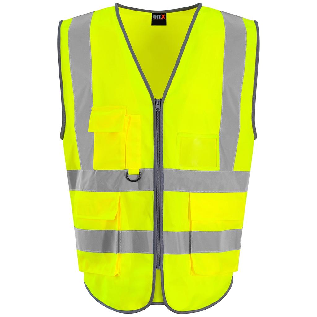 PRO RTX Mens Executive High-Vis Waistcoat (5XL) (Yellow)