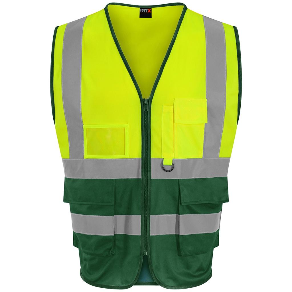PRO RTX Mens Executive High-Vis Waistcoat (XL) (Yellow/Paramedic Green)