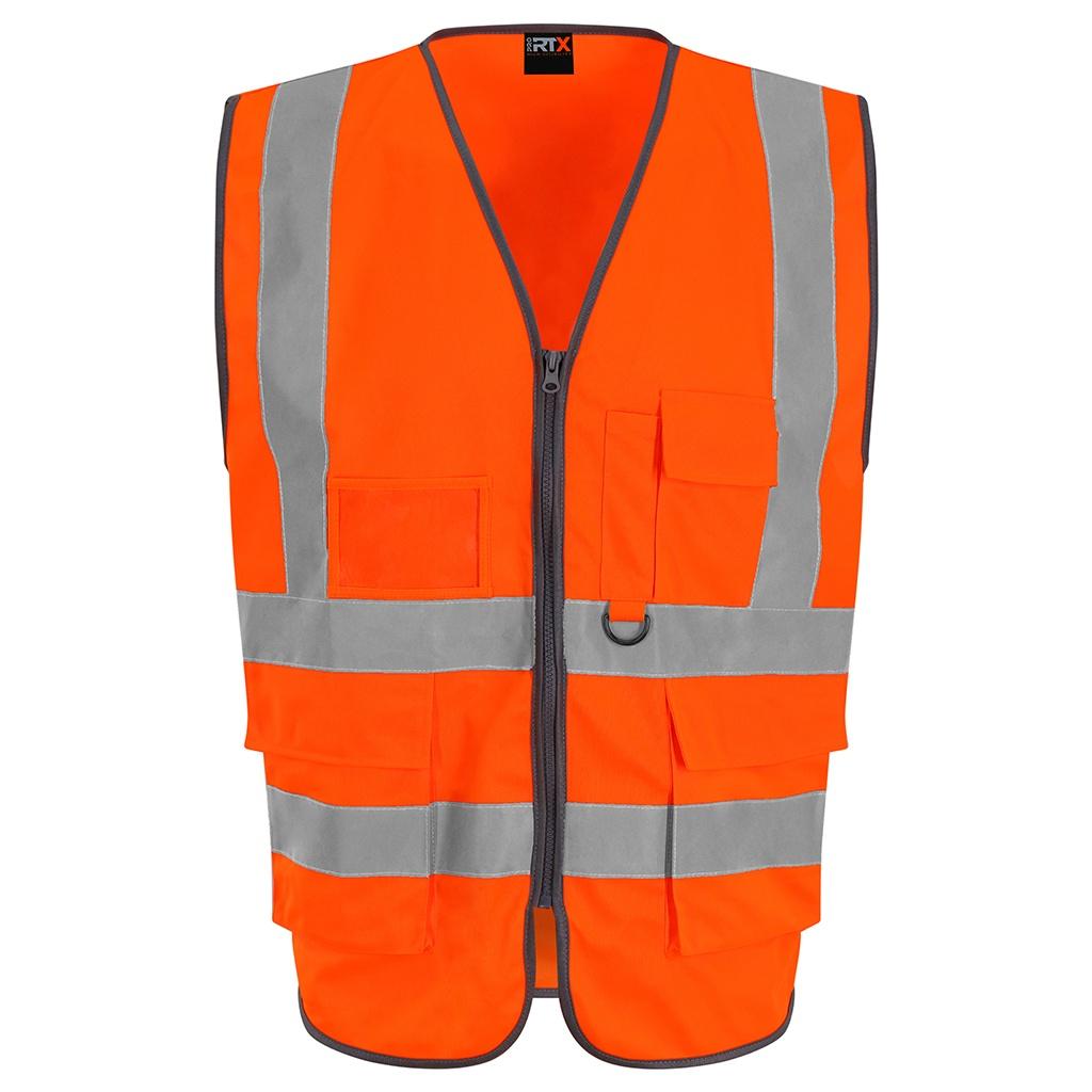 PRO RTX Mens Executive High-Vis Waistcoat (S) (Orange)