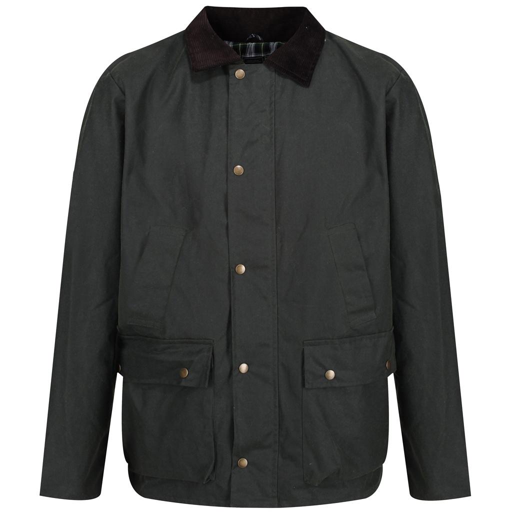 Regatta Mens Banbury Wax Jacket (L) (Black)