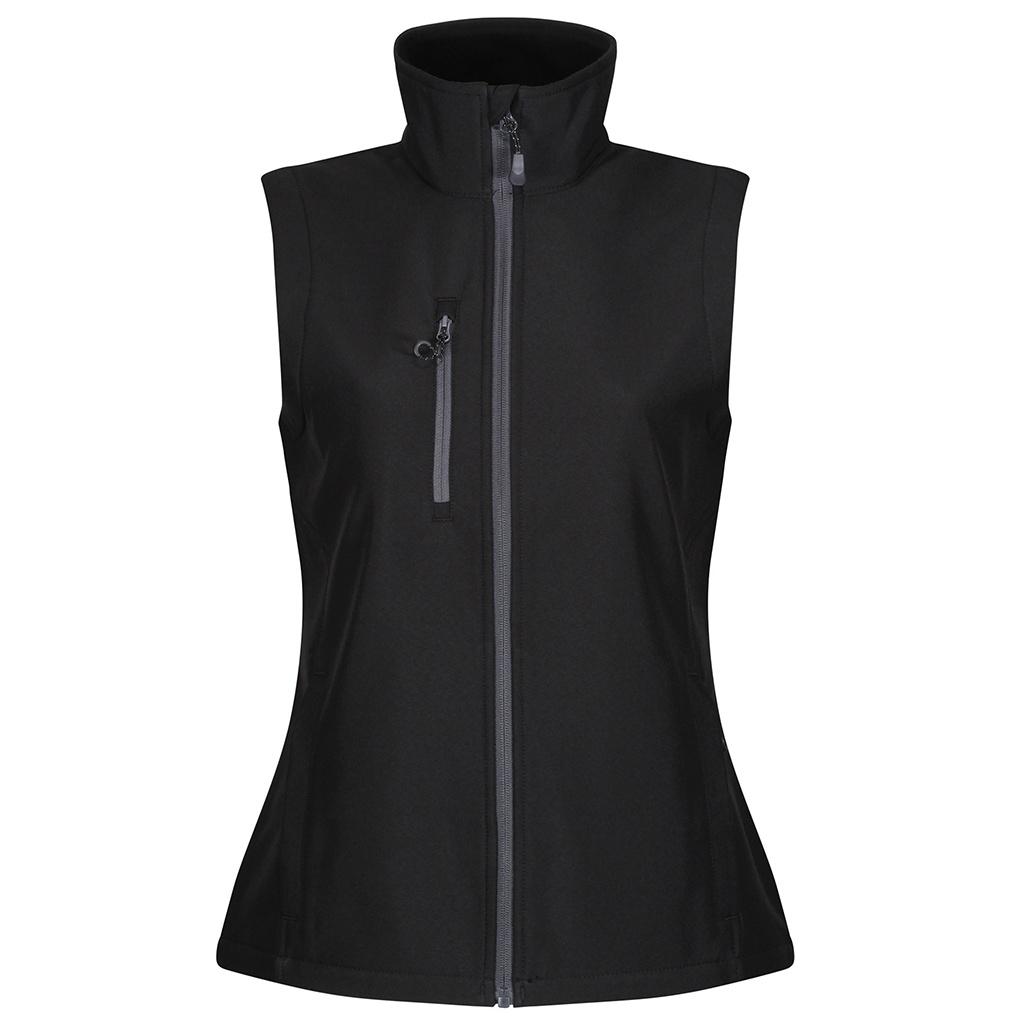 Regatta Womens/Ladies Honestly Made Softshell Recycled Body Warmer (12 UK) (Black)