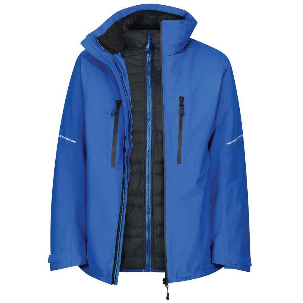 Regatta Mens X-Pro Evader III Padded Jacket (XXL) (Oxford Blue/Black)