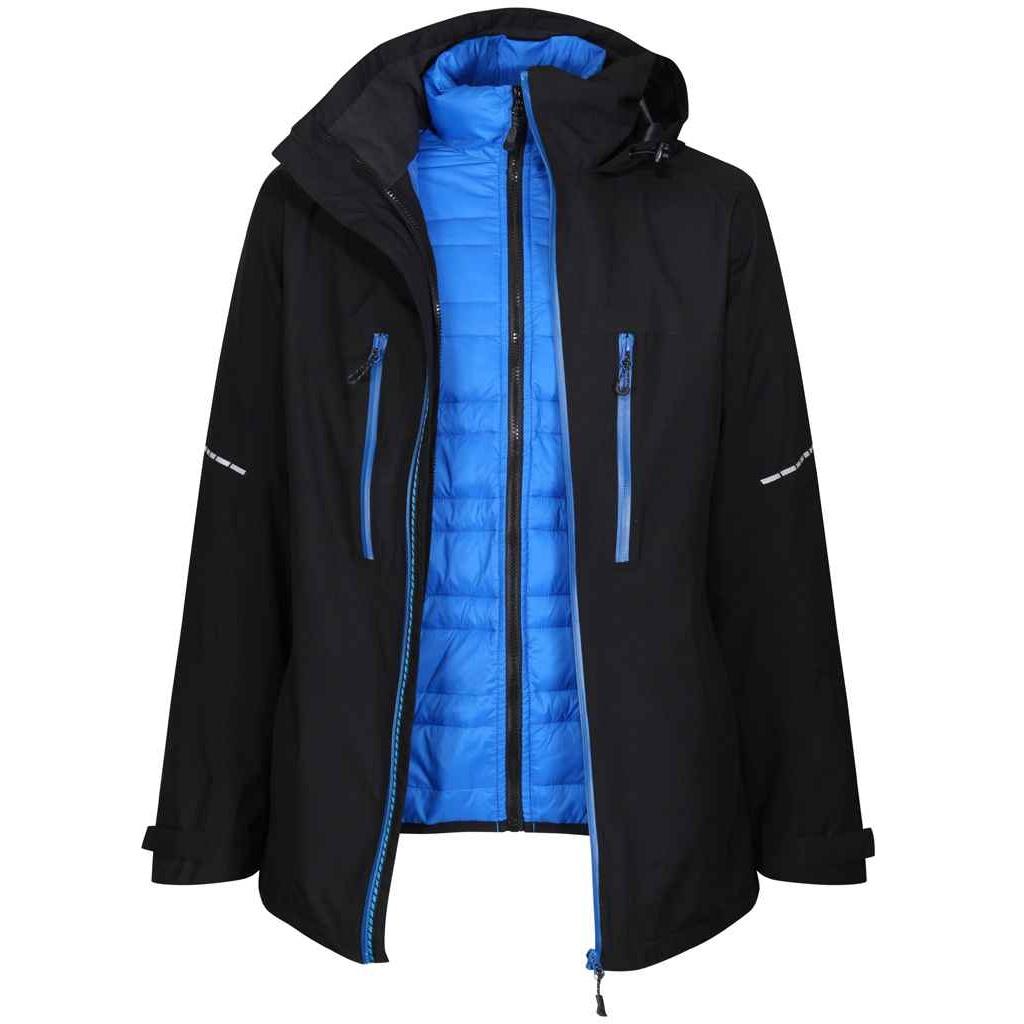 Regatta Mens X-Pro Evader III Padded Jacket (3XL) (Black/Oxford Blue)