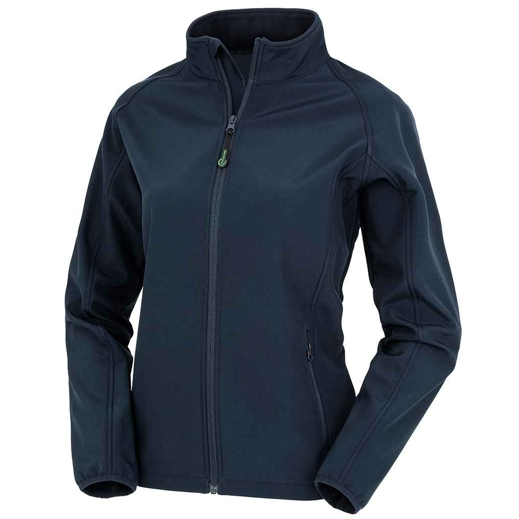 Result Genuine Recycled Womens/Ladies Printable Soft Shell Jacket (S) (Navy)