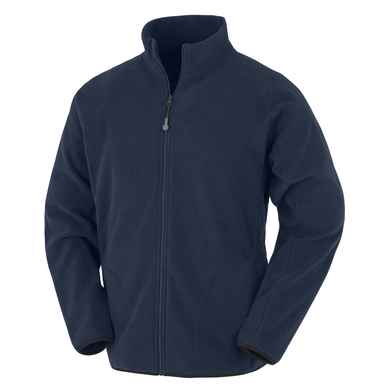 Result Genuine Recycled Mens Fleece Jacket (S) (Navy)
