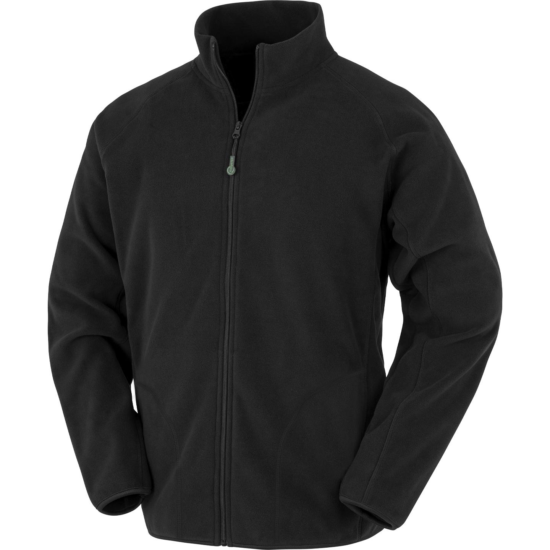 Result Genuine Recycled Mens Fleece Jacket (M) (Black)