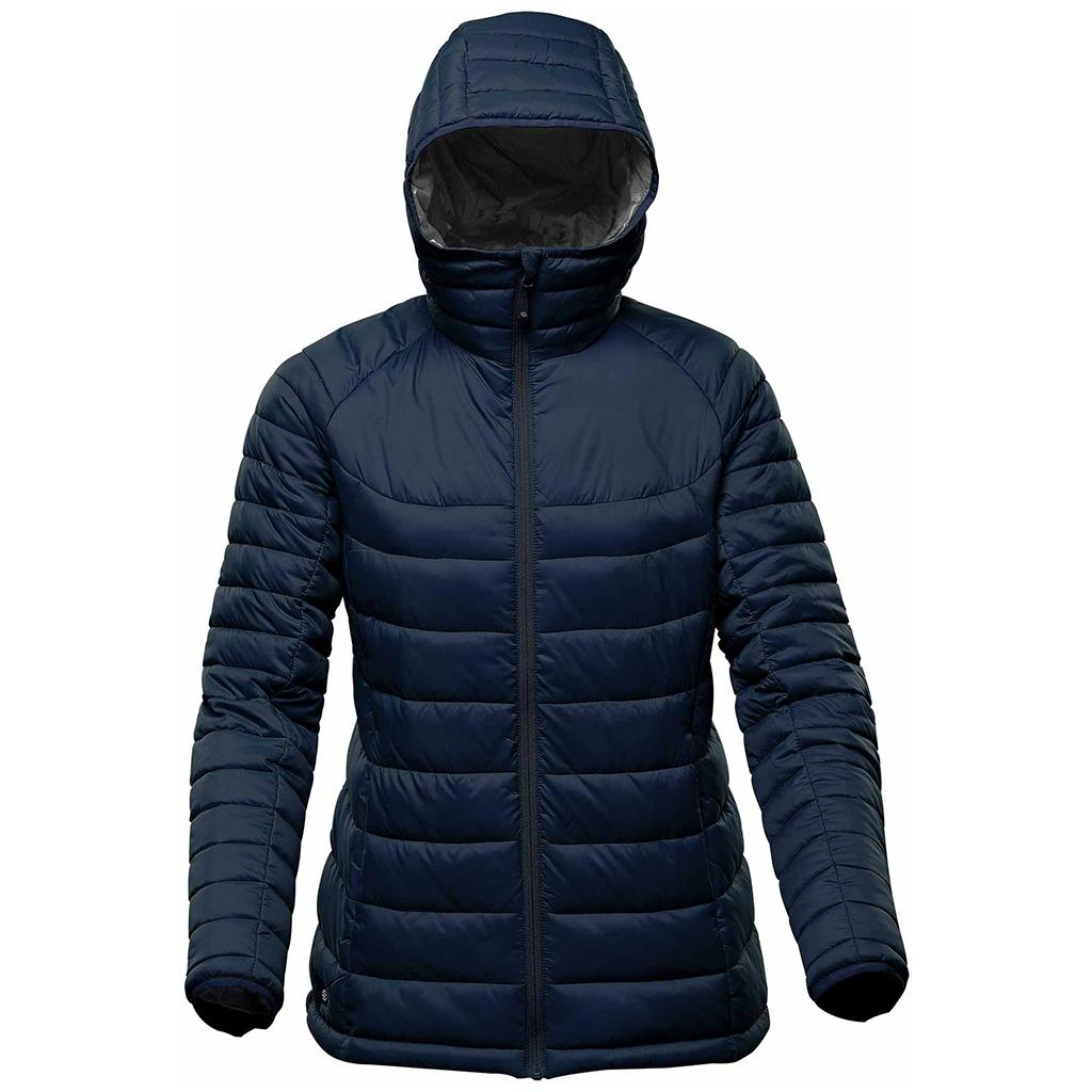Stormtech Womens/Ladies Stavanger Thermal Padded Jacket (XL) (Navy/Graphite Grey)