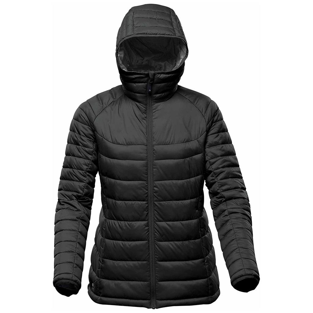 Stormtech Womens/Ladies Stavanger Thermal Padded Jacket (L) (Black/Graphite Grey)