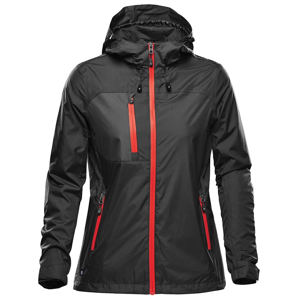 Stormtech Womens/Ladies Olympia Soft Shell Jacket (S) (Black/Bright Red)