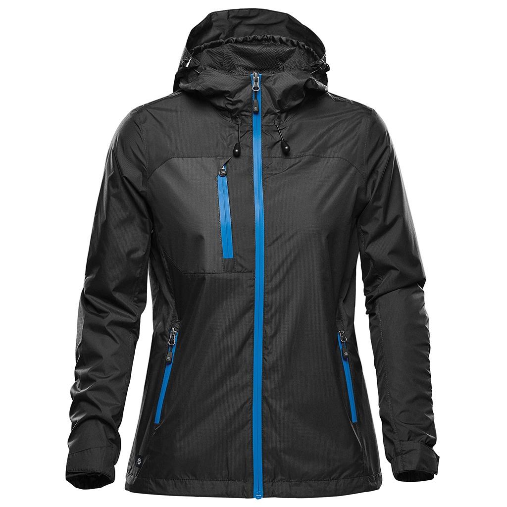 Stormtech Womens/Ladies Olympia Soft Shell Jacket (S) (Black/Azure)