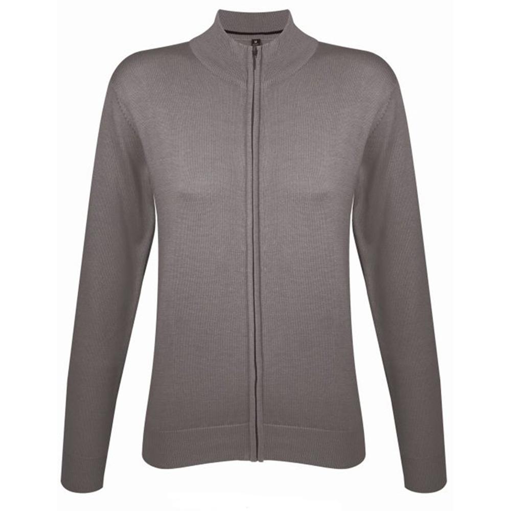 SOLS Womens/Ladies Gordon Full Zip Cardigan (XXL) (Grey)