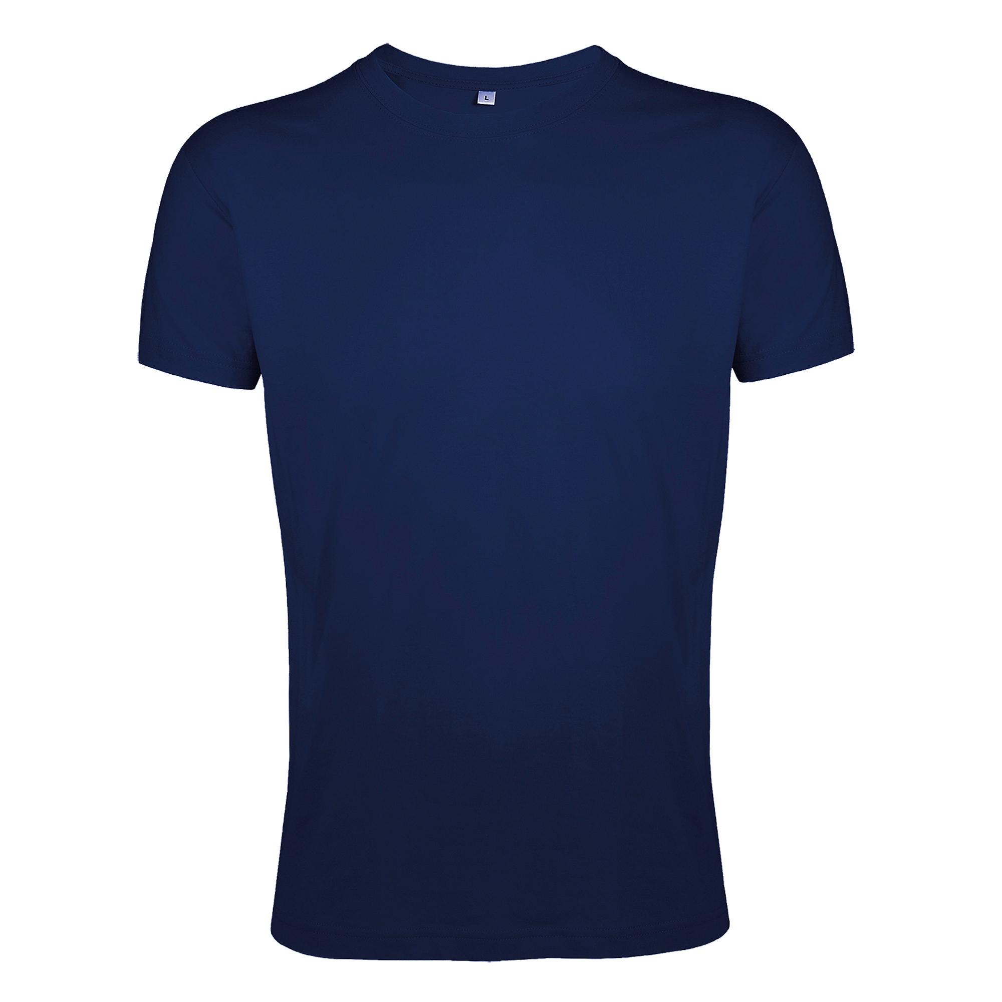 SOLS Mens Regent Slim Fit Short Sleeve T-Shirt (M) (French Navy)