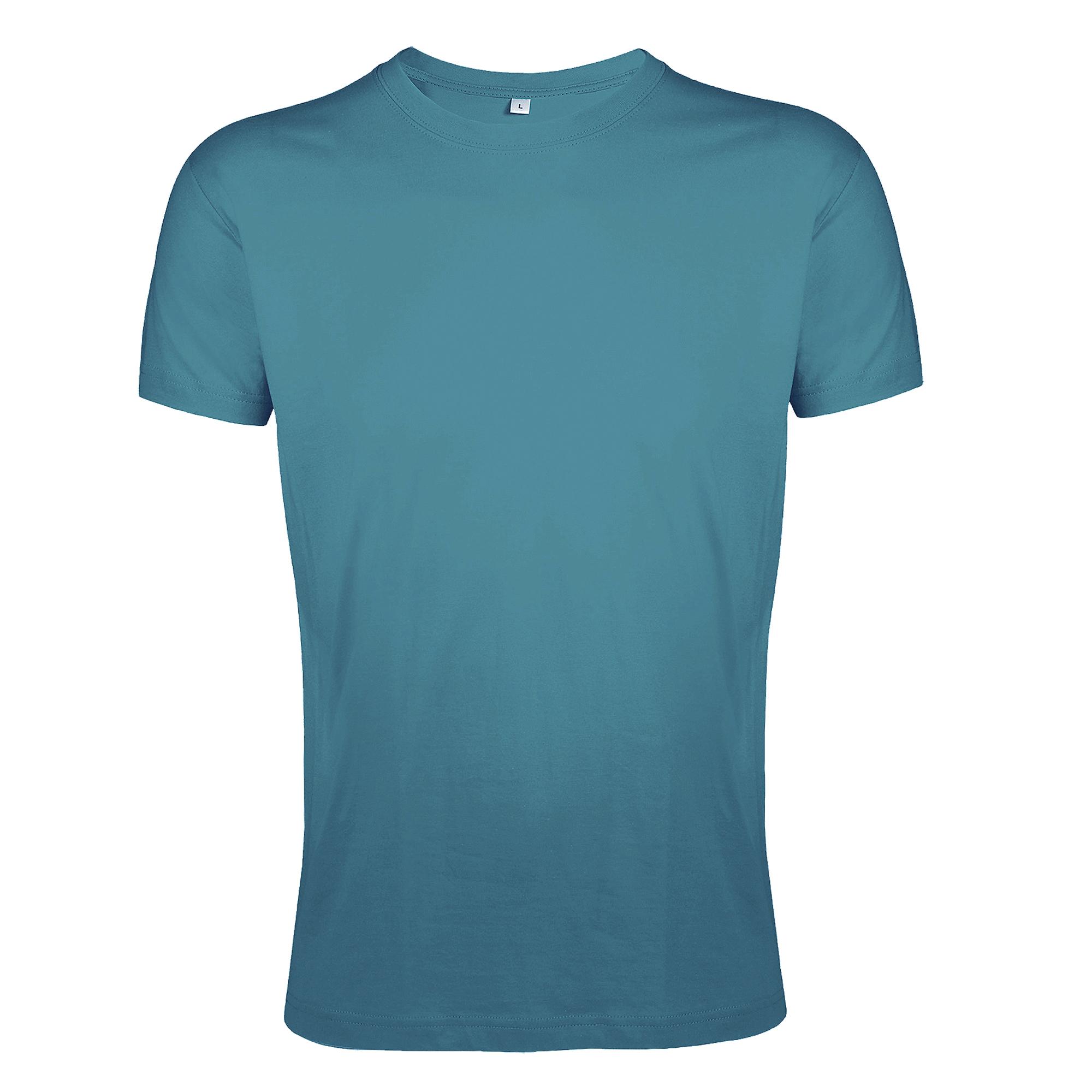 SOLS Mens Regent Slim Fit Short Sleeve T-Shirt (XXL) (Duck Blue)