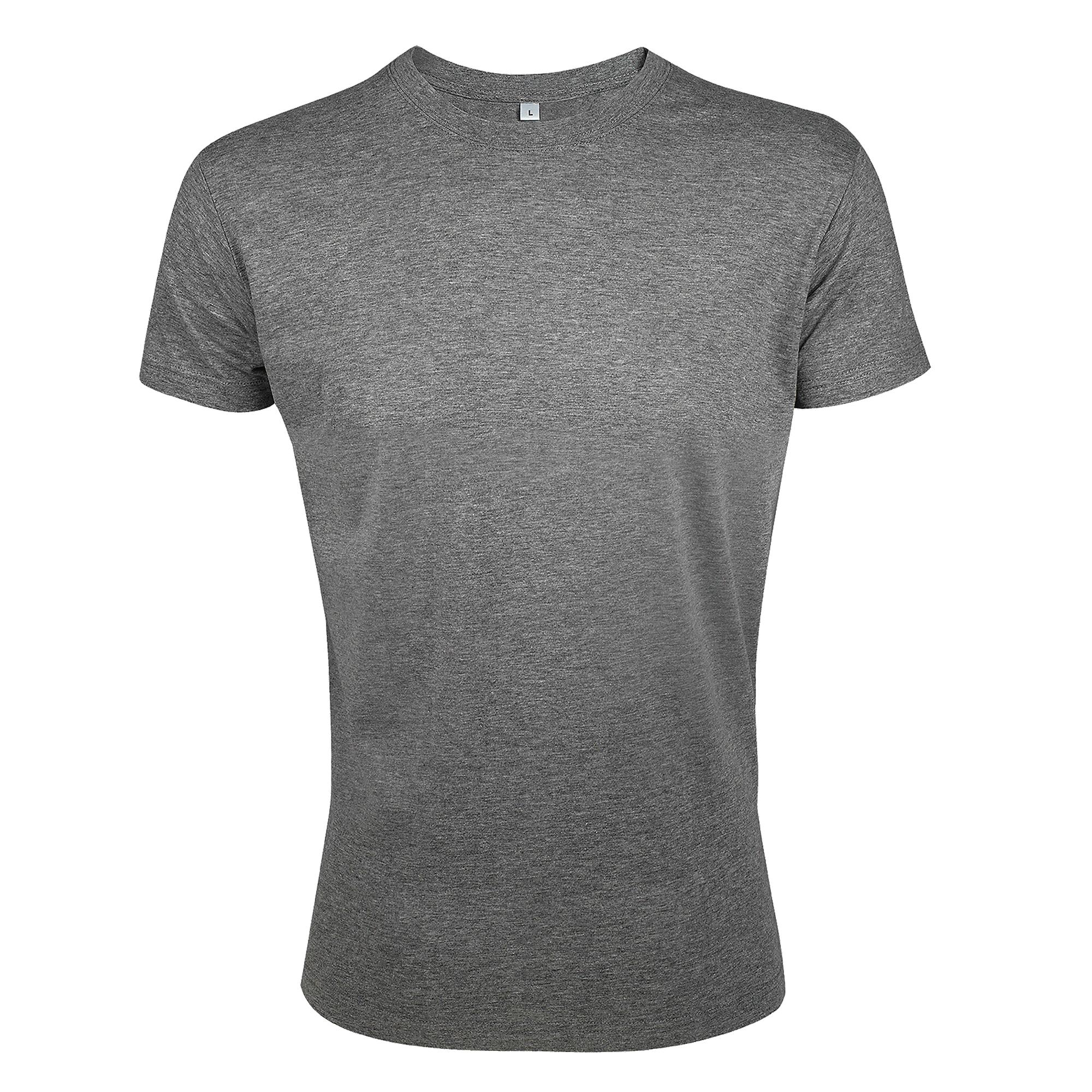 SOLS Mens Regent Slim Fit Short Sleeve T-Shirt (L) (Grey Marl)