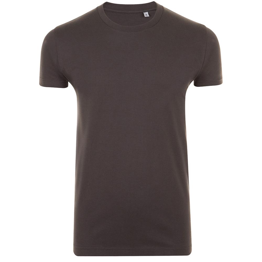 SOLS Mens Imperial Slim Fit Short Sleeve T-Shirt (L) (Deep Black)
