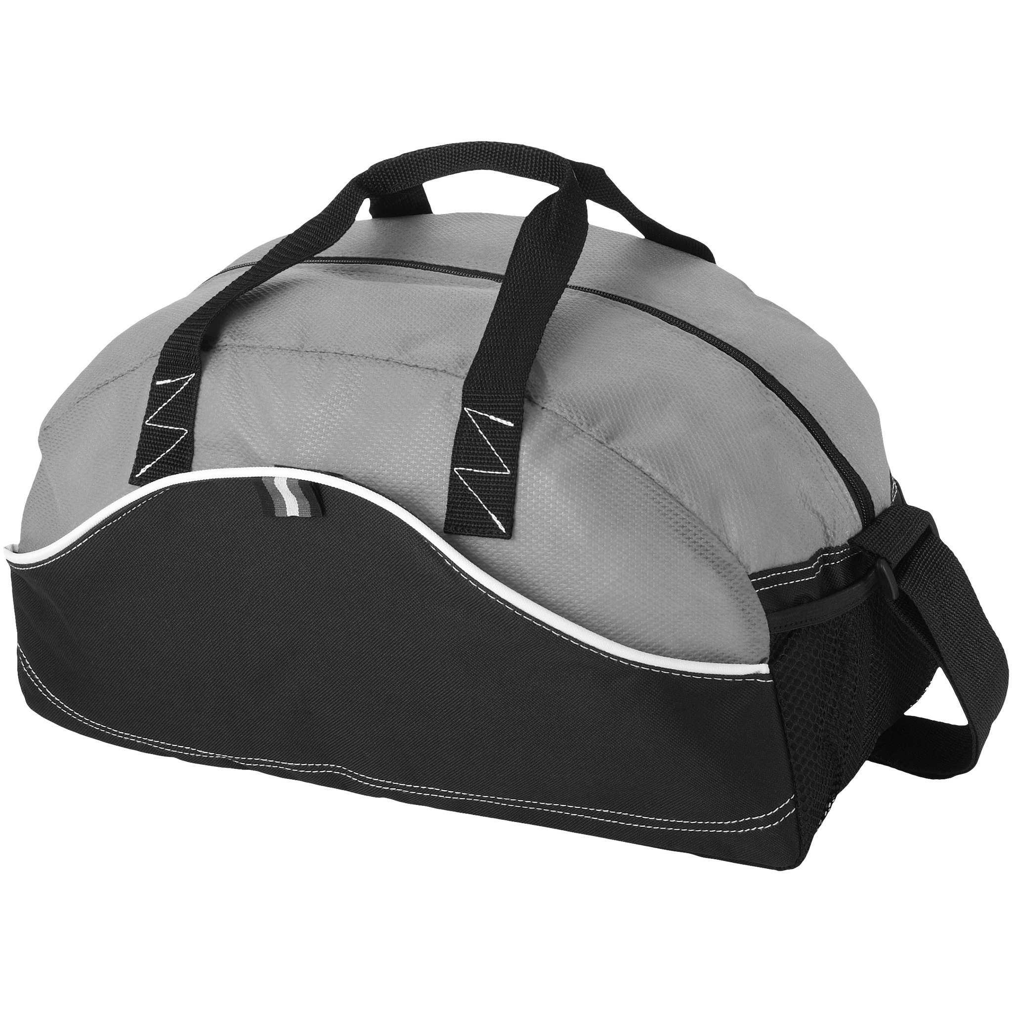 Bullet Boomerang Duffel Bag (44 x 22 x 26 cm) (Solid Black/Light Grey)